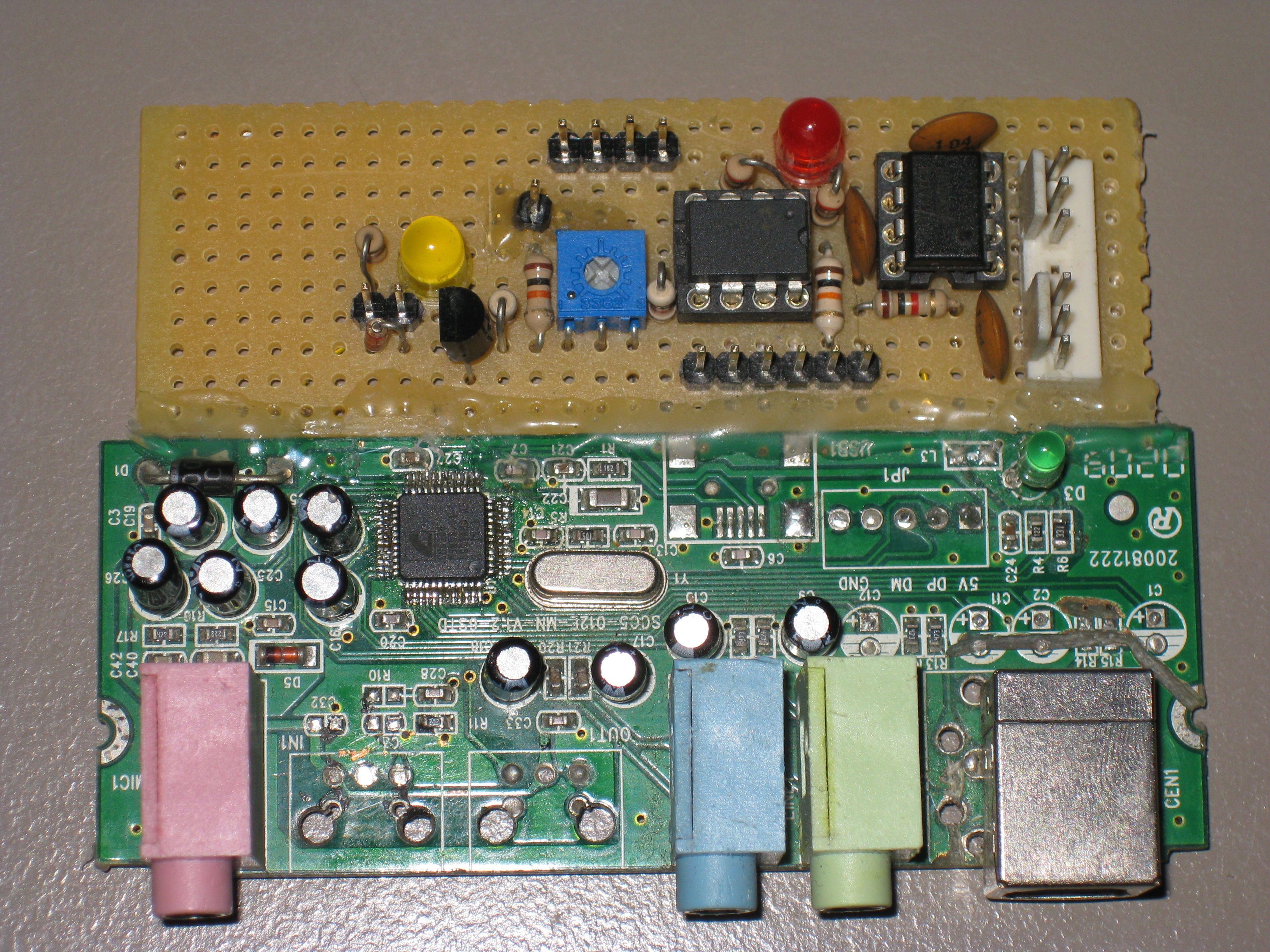 Openlase Hardware Mark 1 Connection Running Explicitly From The Power Supply To Opamp Dac Board