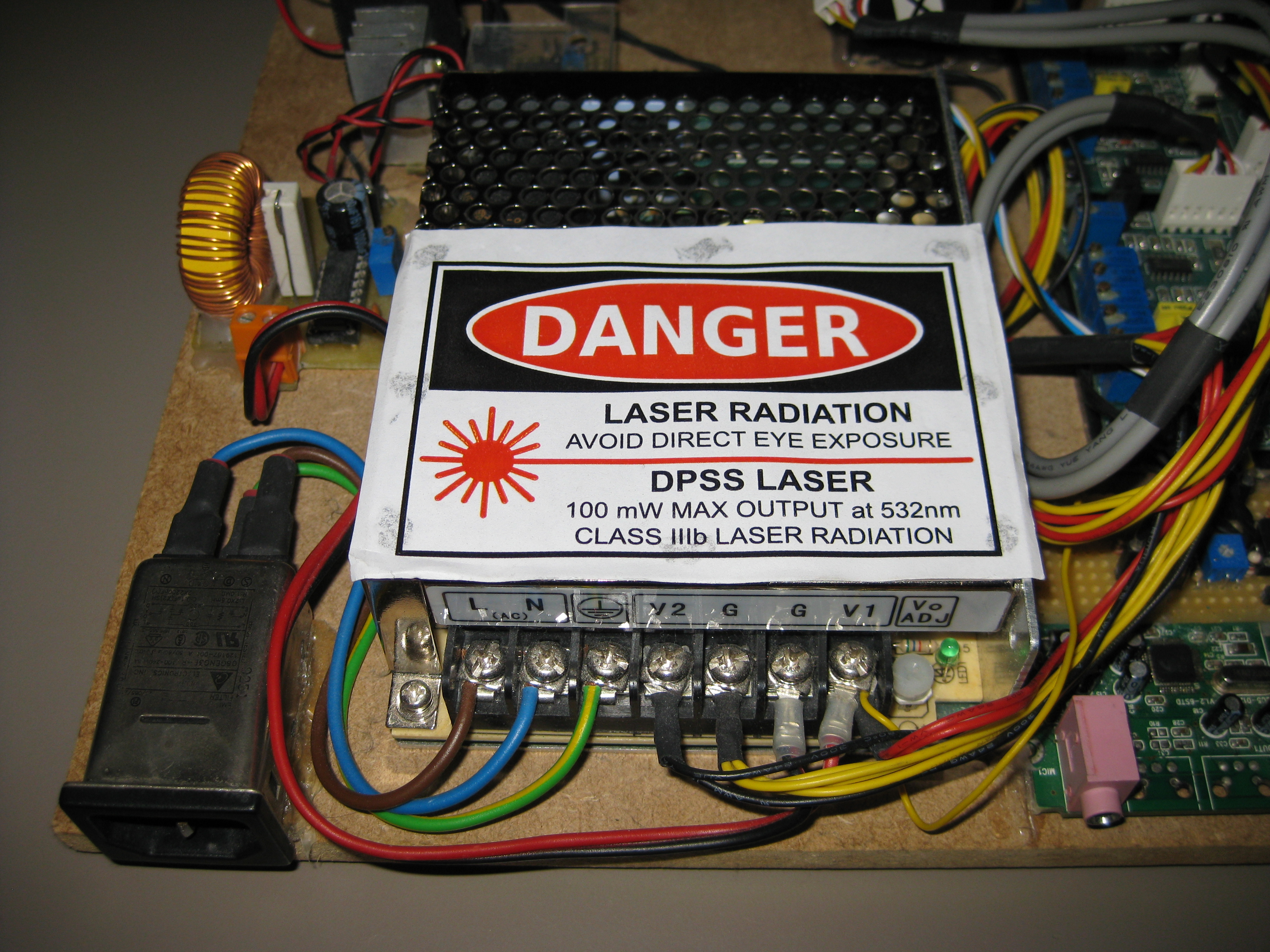 Openlase Hardware Mark 1 Connection Running Explicitly From The Power Supply To Opamp